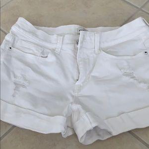Sneakpeek white denim shorts